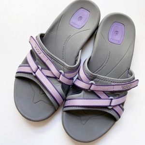 Teva Sandals Adjustable Purple Gray Sz 7